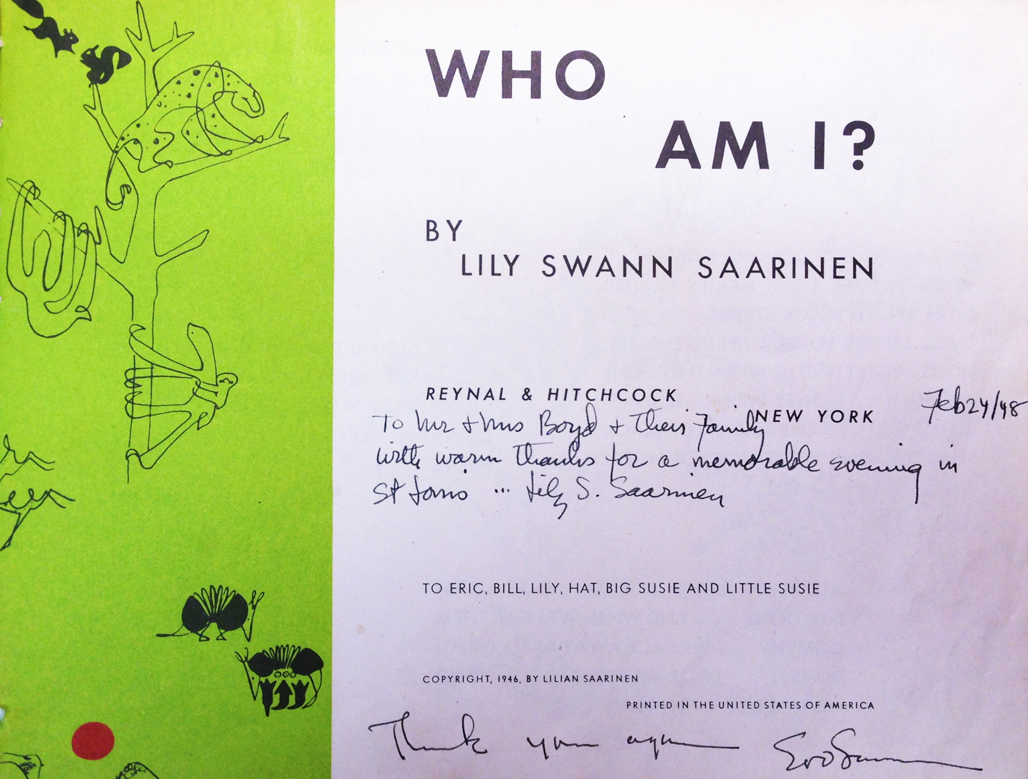 Who Am I? Title page