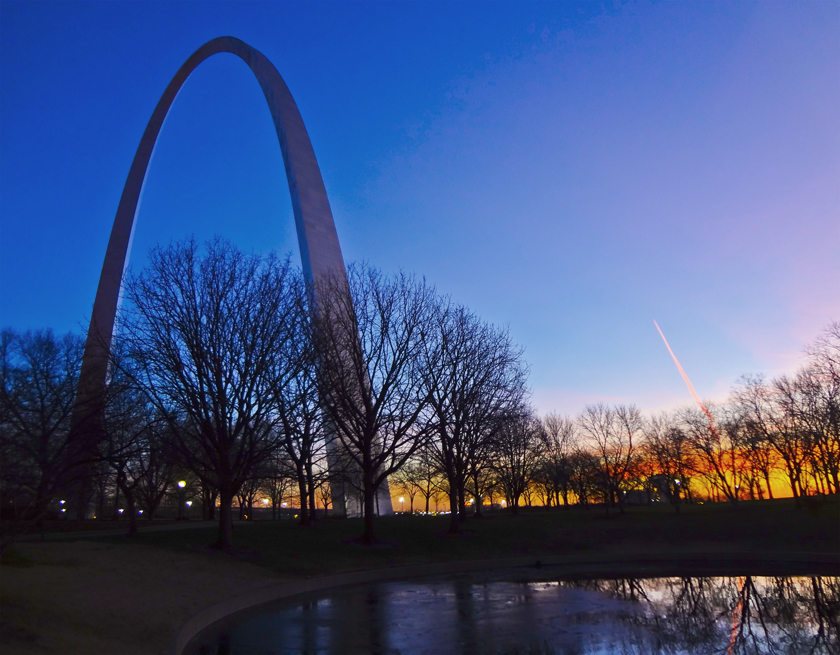 Winter Sunrise at the Arch