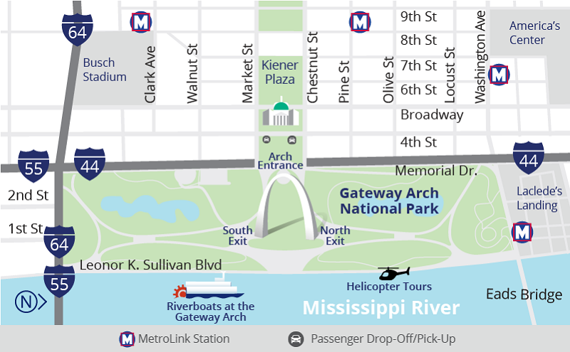 Maps - Gateway Arch National Park (U.S. National Park Service)
