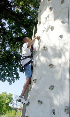 Go vertical on one of two portable climbing walls at ParkPalooza!