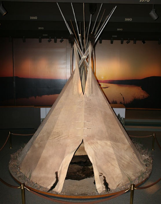 buffalo hide tipi