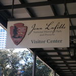 Jean Lafitte Visitor Center sign