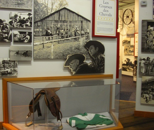 Exhibit about racing in Louisiana's Cajun country