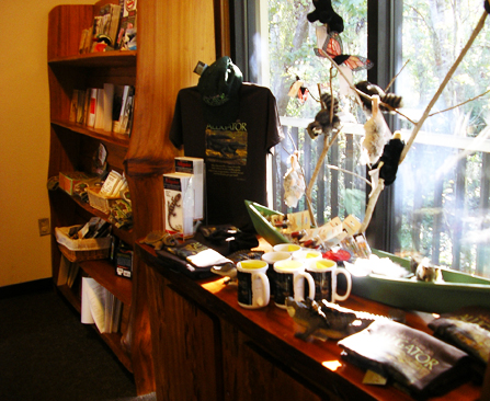 Image of park museum store with various items for sale