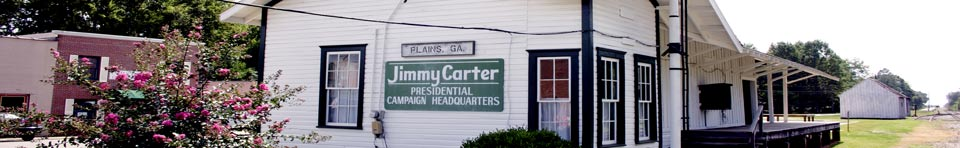 Jimmy Carter's 1976 Campaign Headquarters at the Plains Depot.
