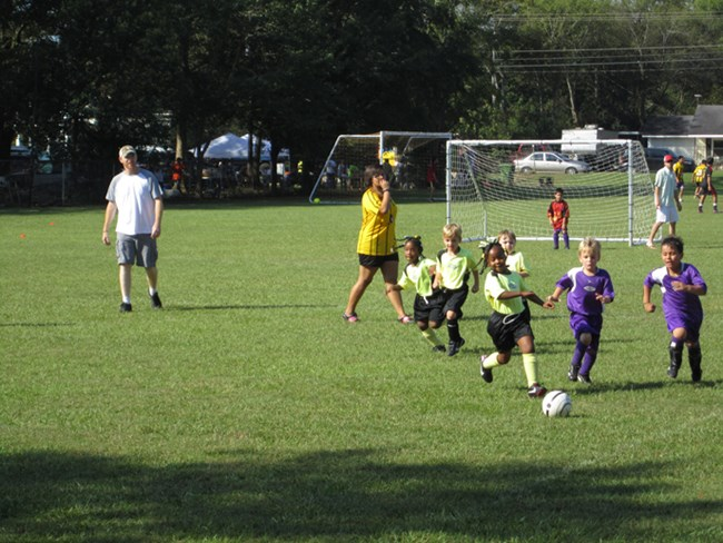 Kids soccer game