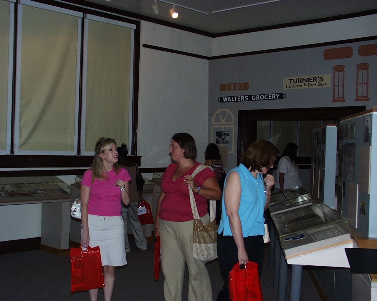 Teachers visit museum during workshop.