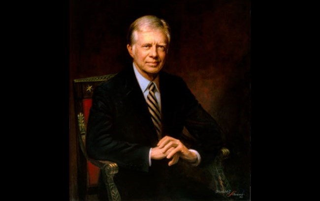 Official White House portrait of Jimmy Carter