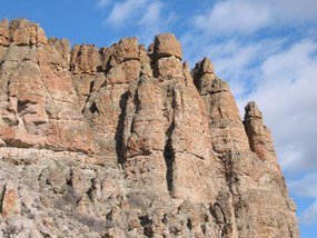 Image of the Clarno Palisades.
