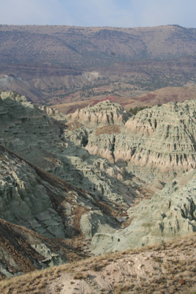 Image of blue basin in the afternoon.