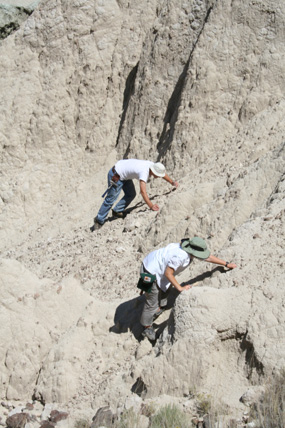Image of paleontologists doing field work.