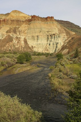 View of the John Day River at Cathedral Rock.