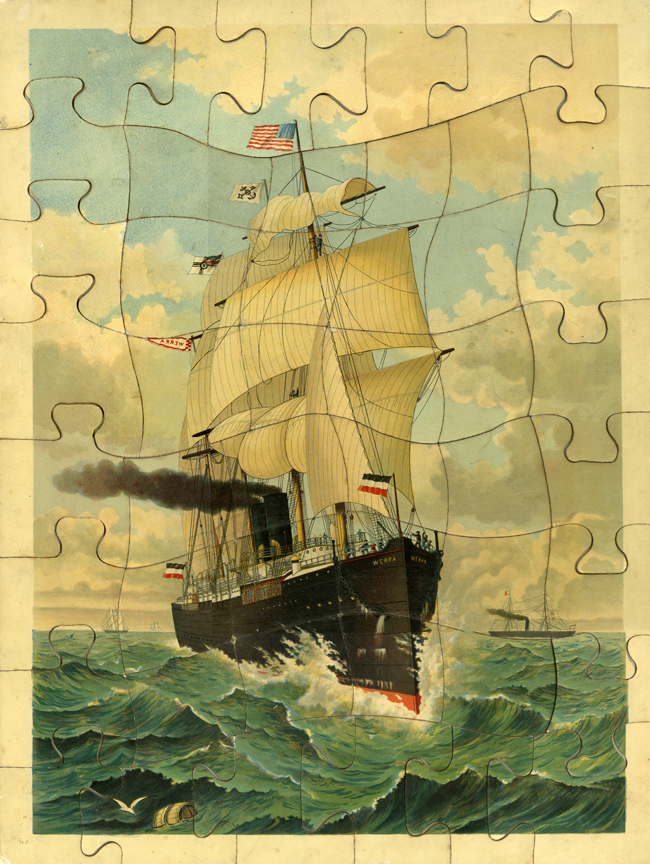 A late 19th century puzzle made by the McLoughlin Bros., Inc. of New York.