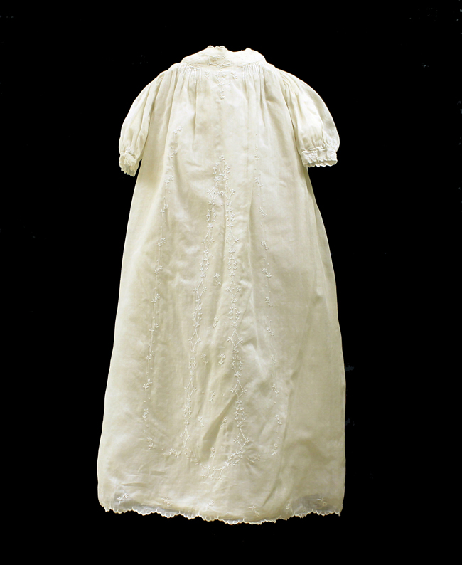 The christening gown worn by John F. Kennedy and his siblings.