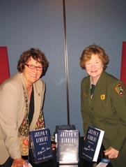Author Cari Beauchanp with Park Superindent Myra Harrison