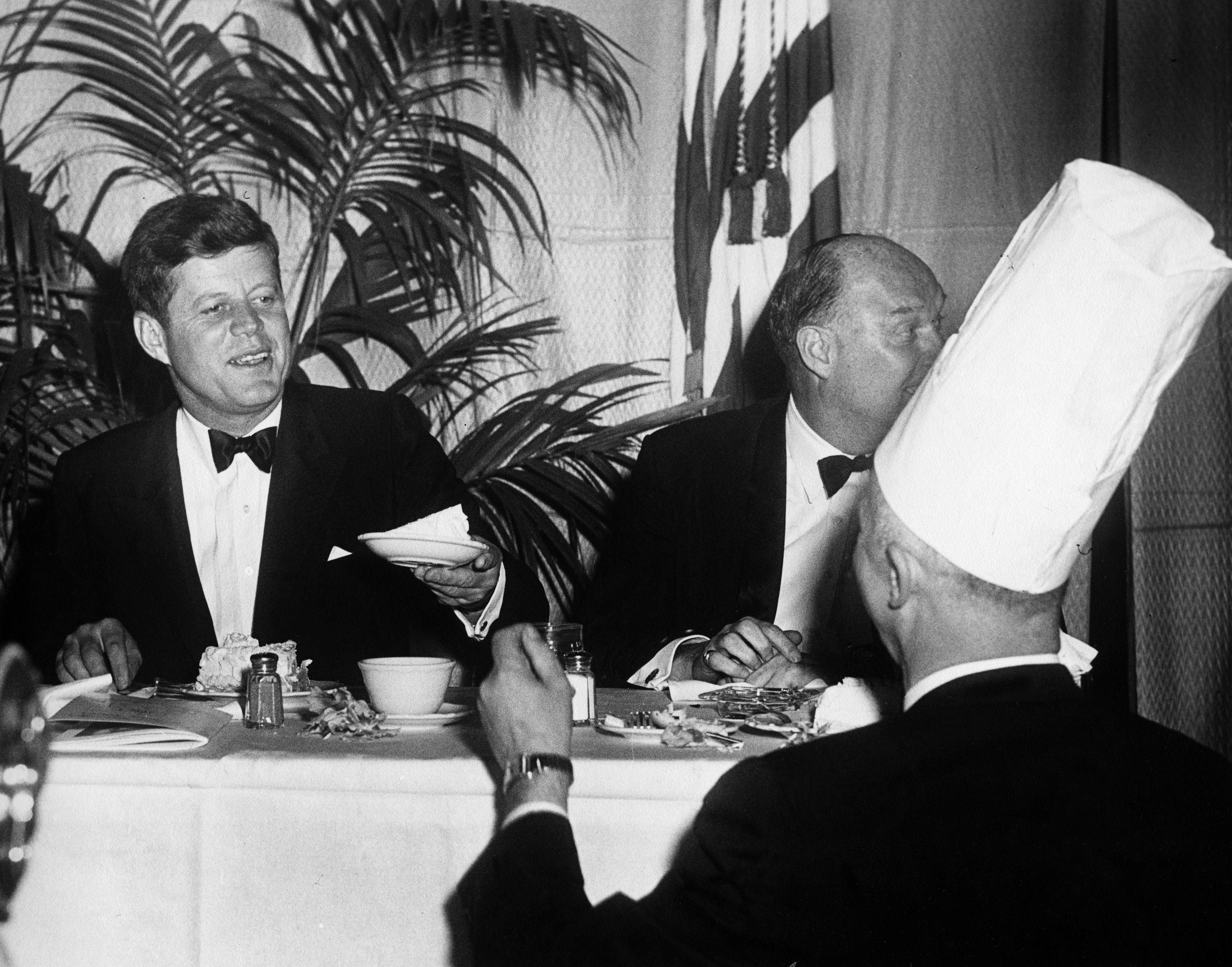 JFK is served his birthday cake.