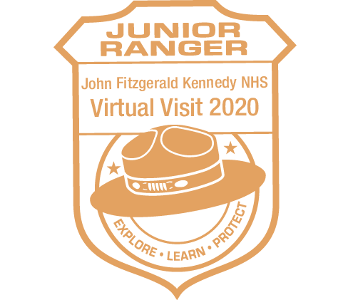 Orange Junior Ranger Stamp, dated 2020.