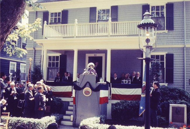 Rose Kennedy on Dedication Day