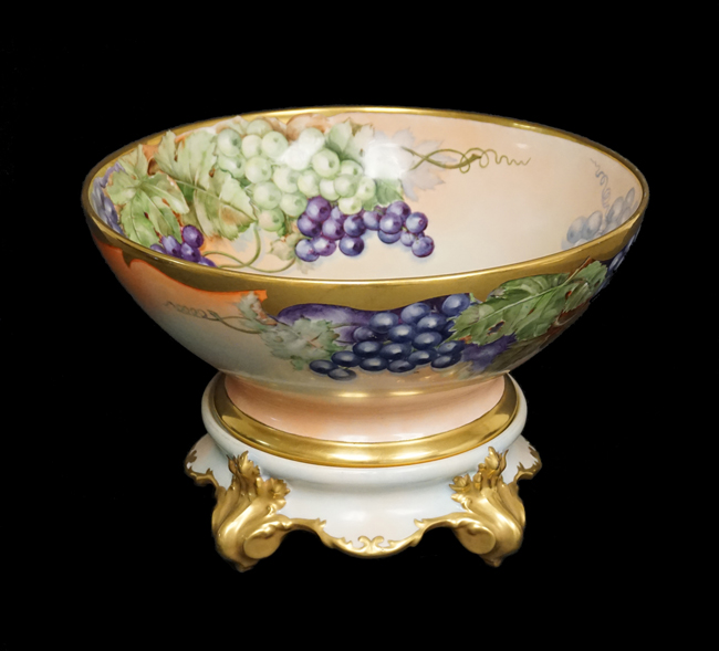 A Limoges punch bowl that belonged to Mrs. Rose F. Kennedy.