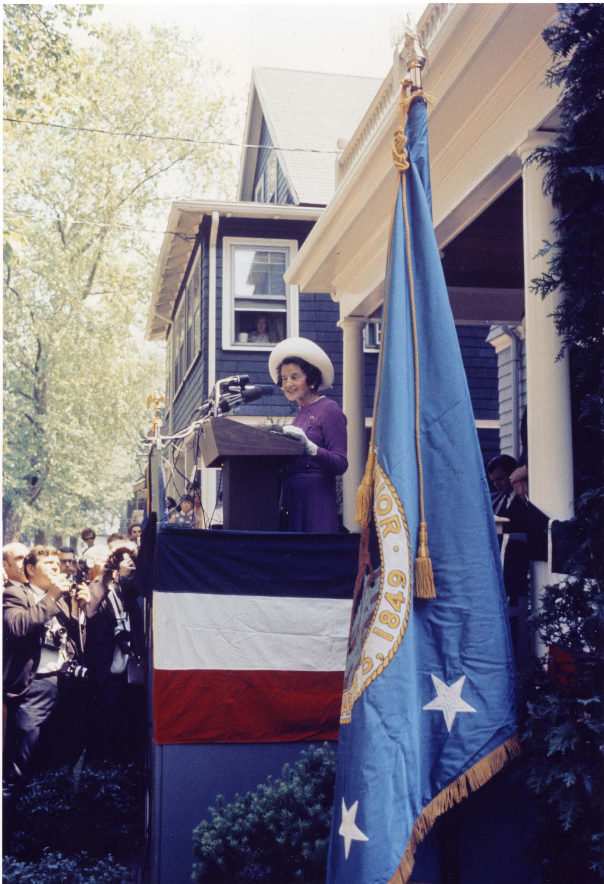 Rose Kennedy at lectern_ab