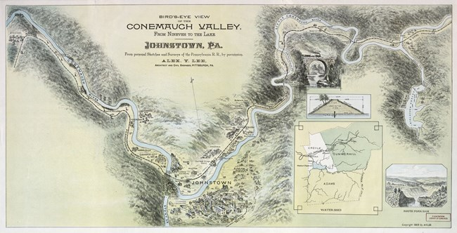 Map of the Path of the Johnstown Flood