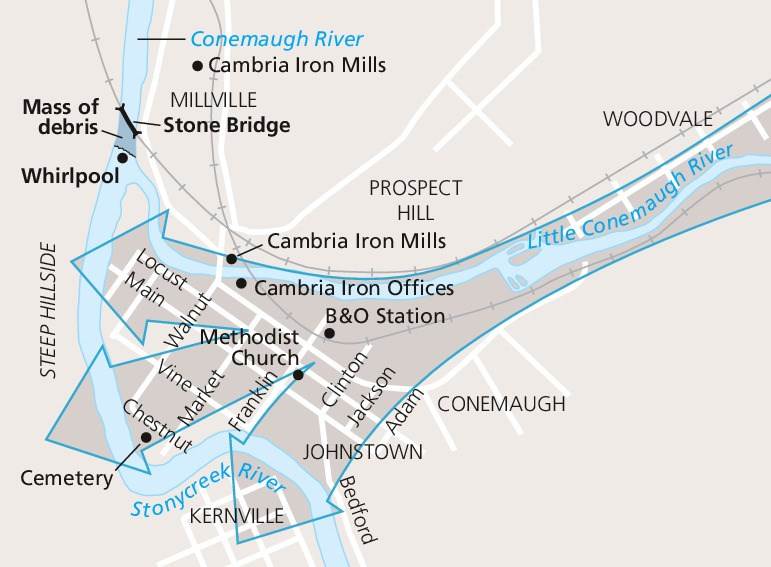 Map of Johnstown