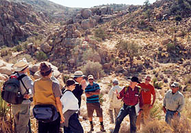 geology class at Joshua Tree National Park