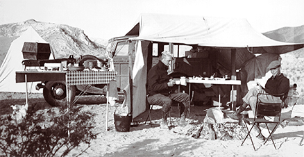 Campbell's base camp in Pinto Basin