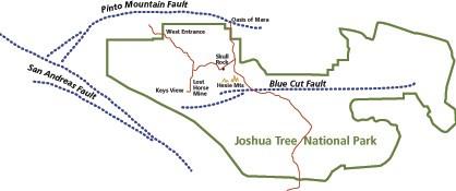 Faults Joshua Tree National Park US National Park Service - San andreas fault map