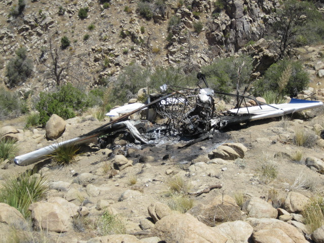 Remains of burned plane.