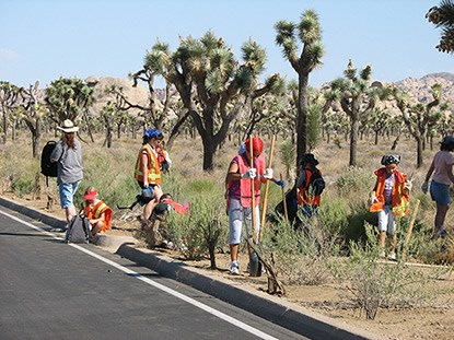 Volunteers on National Public Lands Day
