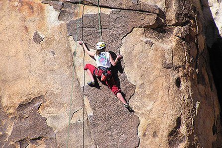 Climber at Rattlesnake Canyon