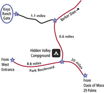 Map To Keys Ranch Joshua Tree National Park US National Park
