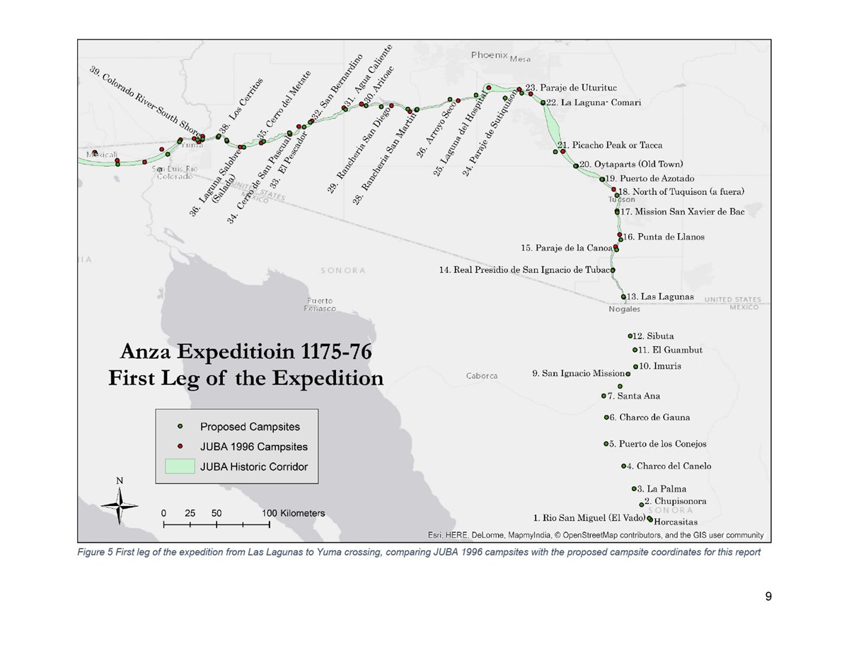 Map Figure 5, First Leg of Expedition.