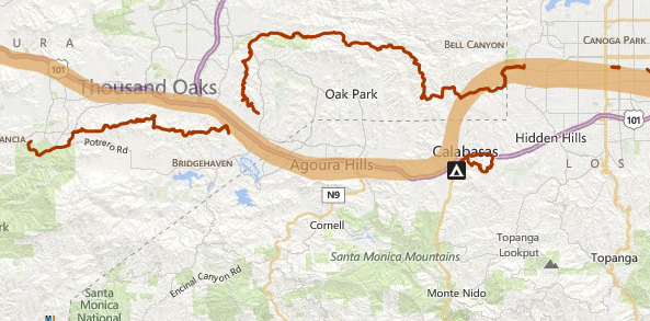 Screen Shot of Anza Trail Map