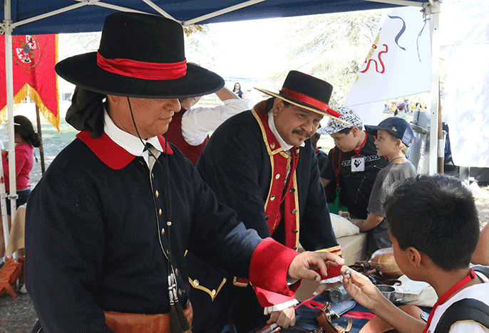 Spanish colonial re-enactors at outdoor festival