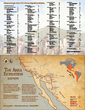 2015 Anza Trail map and families list