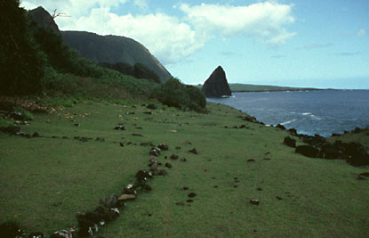 Archeological site on Kukaiwa'a Peninsula.