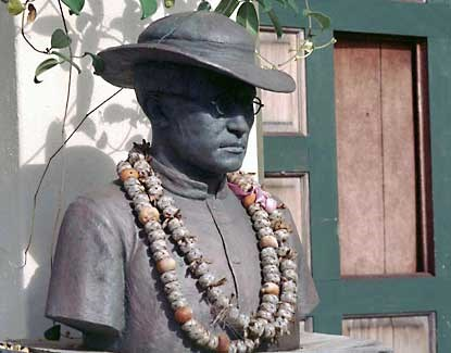 Father Damien is one of the most well known kokua to have served at Kalaupapa.