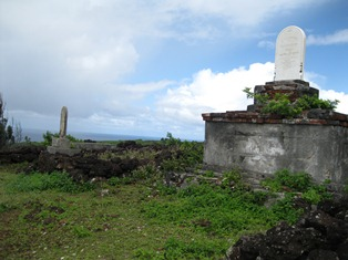 Graves at Crater