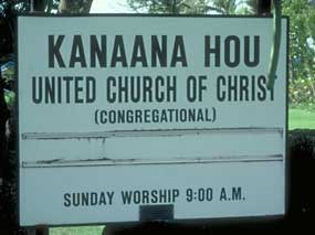 Kalaupapa sign.