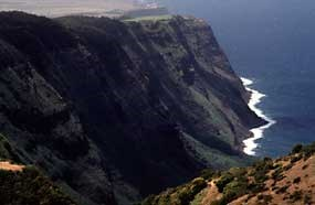 The North Shore Cliffs--these and the ocean define the isolation of Kalaupapa.
