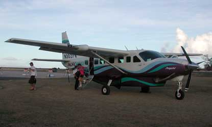 Small aircraft serve Kalaupapa daily.