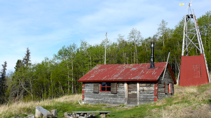 Fure's Cabin and windmill