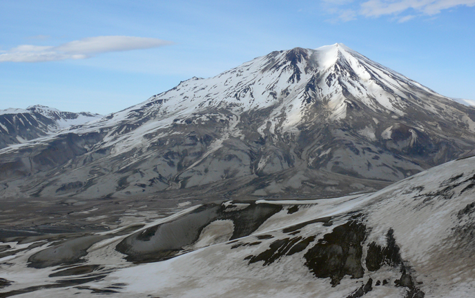 Mount Griggs seen from the summit of Baked Mountain in the Valley of Ten Thousand Smokes