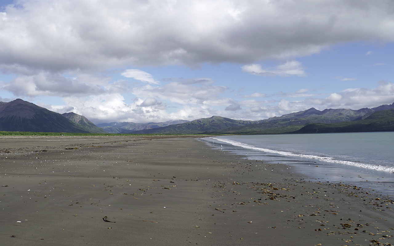 Amber Bay in Aniakchak National Monument and Preserve