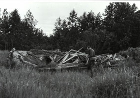 Old Savonoski was abandoned after the eruption of Mt. Katmai/Novarupta in 1912.