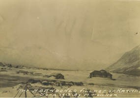 The village of Katmai a year after its abandonment.
