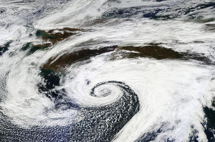 Cyclone over the North Pacific, 9_26_2012