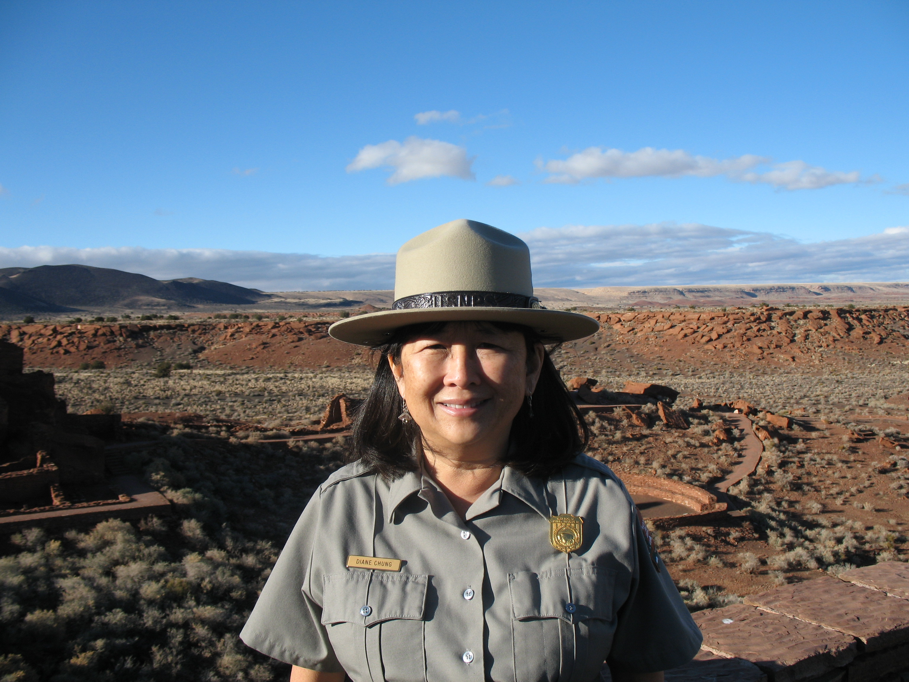 Katmai Superintendent Diane Chung at Wupatki National Monument